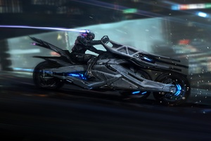 Cyberpunk Bike Scifi Art