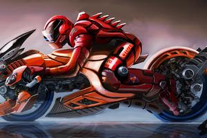 Cyberpunk Bike Scifi Fantasy 4k