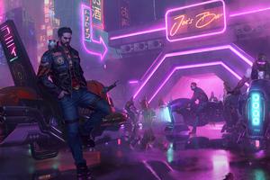 Cyberpunk Biker Gang 4k