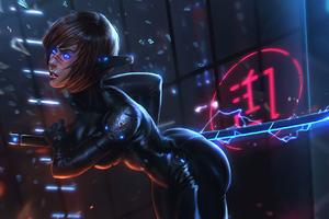 Cyberpunk Black Girl Wallpaper