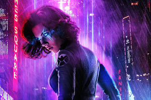 Cyberpunk Black Widow Wallpaper