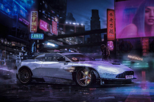 Cyberpunk Car Art