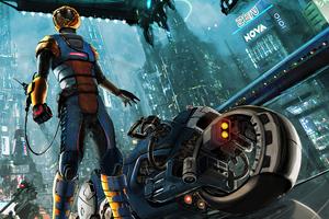 Cyberpunk City Bike 2020