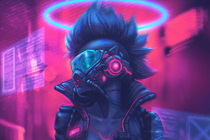 Cyberpunk Colorful Art