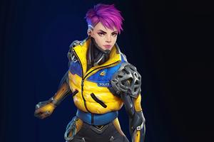 Cyberpunk Cop Girl 8k Wallpaper