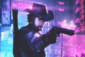 Cyberpunk Cowboy Wallpaper
