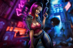 Cyberpunk Fanart Fantasy Girl 4k