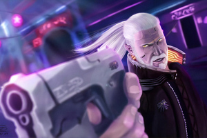 Cyberpunk Geralt 2077 Wallpaper