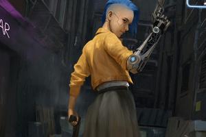 Cyberpunk Girl 2021 4k