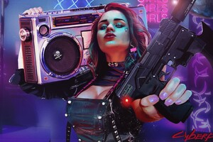 Cyberpunk Girl Artwork 4k Wallpaper