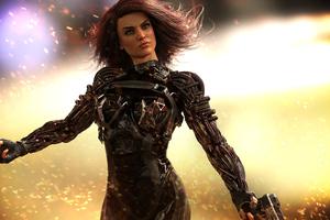 Cyberpunk Girl Body 4k Wallpaper