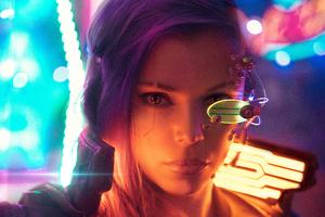 Cyberpunk Girl Cosplay 4k