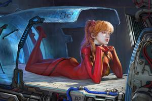 Cyberpunk Girl Getting Ready Wallpaper