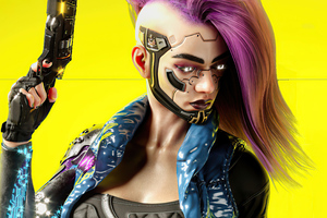 Cyberpunk Girl V 5k Wallpaper