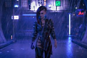 Cyberpunk Girl Your Night City Wallpaper