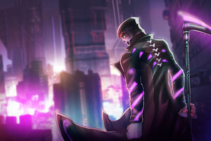 Cyberpunk Grim Reaper 4k