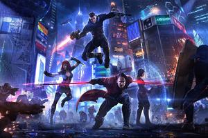 Cyberpunk Heroes 4k
