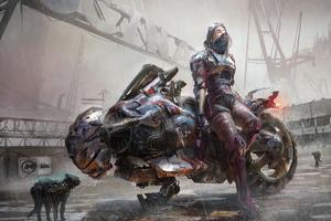 Cyberpunk Motorbike 4k Wallpaper