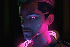 Cyberpunk Neon Man 4k Wallpaper