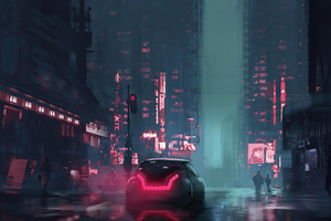 Cyberpunk Night Wallpaper