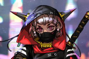 Cyberpunk Ox Lady 4k