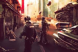 Cyberpunk Police 4k