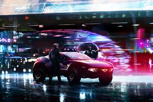 Cyberpunk Police Cars 4k Wallpaper