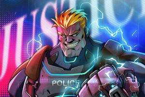 Cyberpunk Police Hercules 4k
