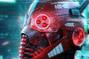 Cyberpunk Robo Mask 4k Wallpaper