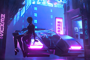 Cyberpunk Scifi Car City 4k