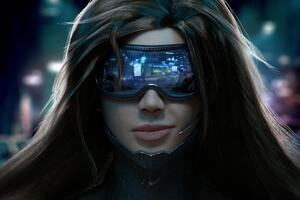 Cyberpunk Scifi Girl Wallpaper