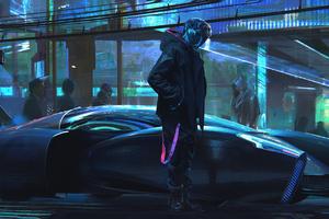 Cyberpunk Scifi Gravity Sketch Digital Art