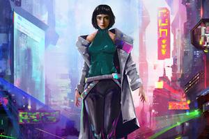 Cyberpunk Short Hair Girl 4k Wallpaper