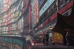 Cyberpunk Slum 4k
