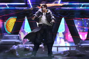 Cyberpunk Squall Wallpaper