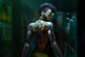 Cyberpunk Tatto Girl Wallpaper