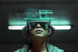Cyberpunk Vr Girl Scifi