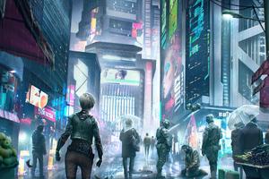 Cyberpunk World Market 4k