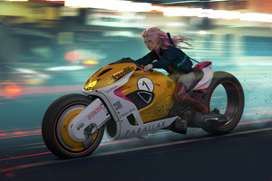 Cyberpunk Zonda Parallax Bike 4k Wallpaper