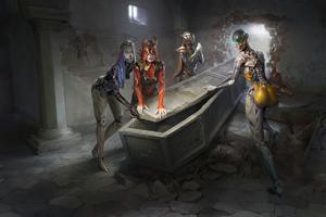 Cyborg Dead Zombie Girls 4k