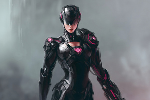 Cyborg Girl Wallpaper