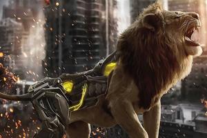Cyborg Lion 4k Wallpaper