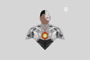 Cyborg Minimalism 8k Wallpaper