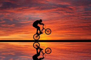 Cycling Sunset
