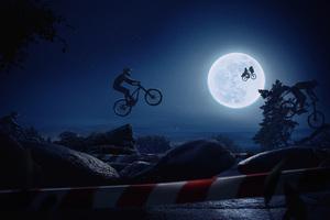 Cyclist Jumping Wallpaper