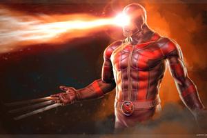 Cyclops Daredevil Wolverine Artwork