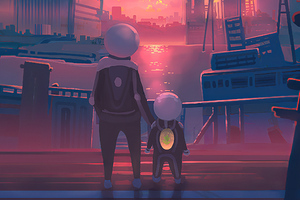 Dad And Me Wallpaper