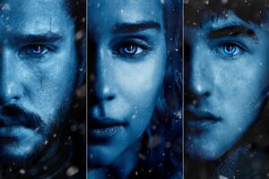 Daenerys Jon Snow Bran Stark Posters Game Of Thrones Season 7 Wallpaper
