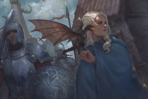 Daenerys Targaryen 4k Art Wallpaper