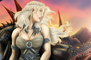 Daenerys Targaryen And Dragon Fan Artwork